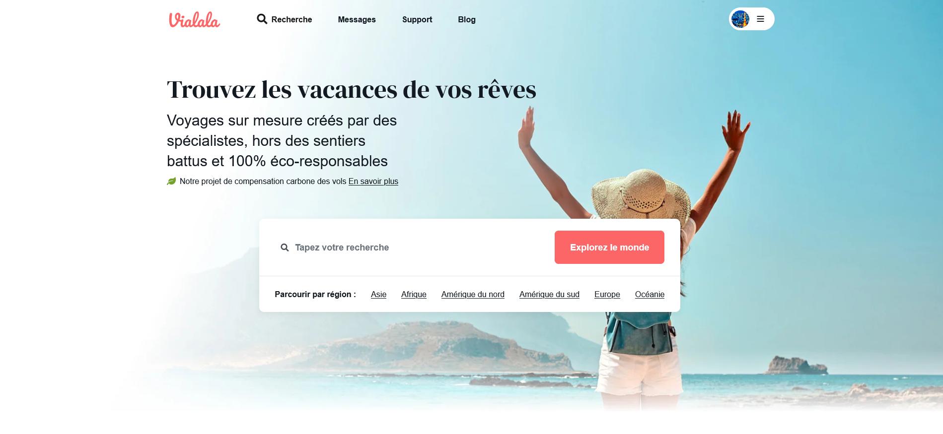 Main image of article: Vialala, application de création de voyages